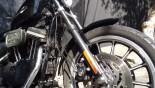 Flexível de Freio (aeroquip), Dianteiro (kit duplo, sobre o paralama) - XL883R Sportster *sem* abs (2004 em diante)FDR_XL883R_04-