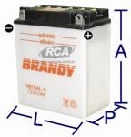 Bateria Convencional Brandy - Scarabeo 200 (2000 em diante)BY-B12AL-A_0131
