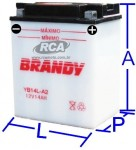 Bateria Convencional Brandy - GSX-R 1100 (1986 a 1992)BY-B14L-A2_0132