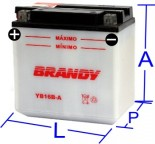 Bateria Convencional Brandy - VS800 GL Intruder 800 (1992 a 2000)    BY-B16B-A_0168