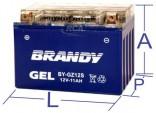 Bateria 100% Gel Brandy - NC700X (2012 em diante)BY-GTZ12_0481