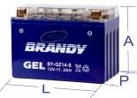 Bateria 100% Gel Brandy - VMax 1700 (2009 em diante)BY-GTZ14_0482