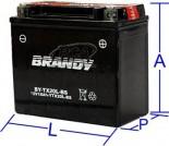 Bateria Selada Brandy - K1200 S (até 2005)BY-TX20L-BS_0130
