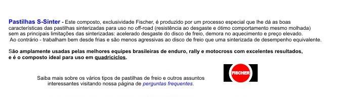 descrição - pastilha s-sinter fischer